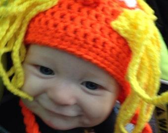 Dr Seuss Lorax Crochet Hat