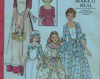 Butterick Sewing Pattern 4261 Dolly Madison Costume  Girls'  Sizes 8 and 10