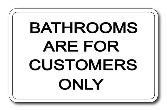 custom bathrooms for customers only aluminum sign home decor