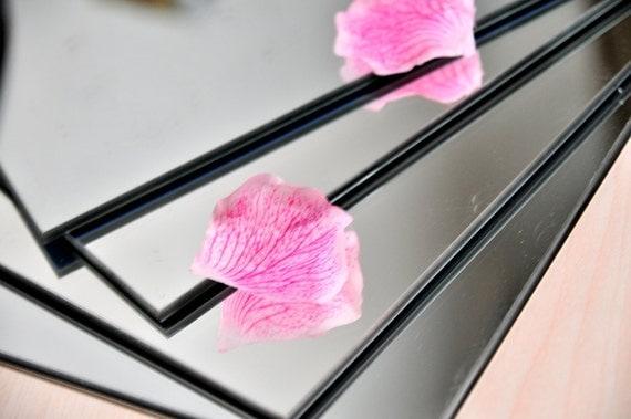 Glass centerpiece mirrors square pcs multiple sizes