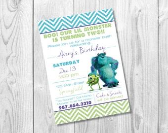 Monsters Inc Invitation / Monsters Inc/ Printable / DIY Birthday Invitation / Disney Invite