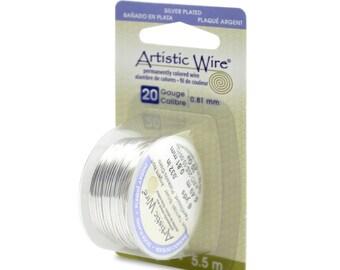 Artistic Wire, 24 Gauge Twisted Silver Wire, 24 gauge Silver Wire ...