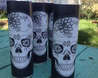 Scrappy Skull 7 Day Candle set of 3