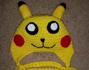 Custom Crochet Pikachu Hat