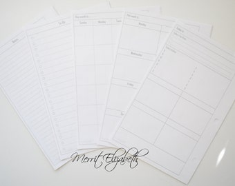 Basic Calendar Planner Kit - A5 Sized