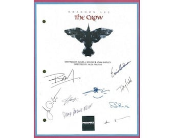 The Crow Movie Signed Script Autographed: Brandon Lee, Ernie Hudson, Michael Wincott, Bai Ling, Sofia Shinas, David Patrick, Jon Polito