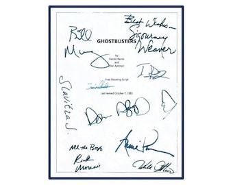 Ghostbusters Movie Script Signed Screenplay Autographed Bill Murray, Dan Aykroyd, Sigourney Weaver, Rick Moranis, Annie Potts, Ernie Hudson