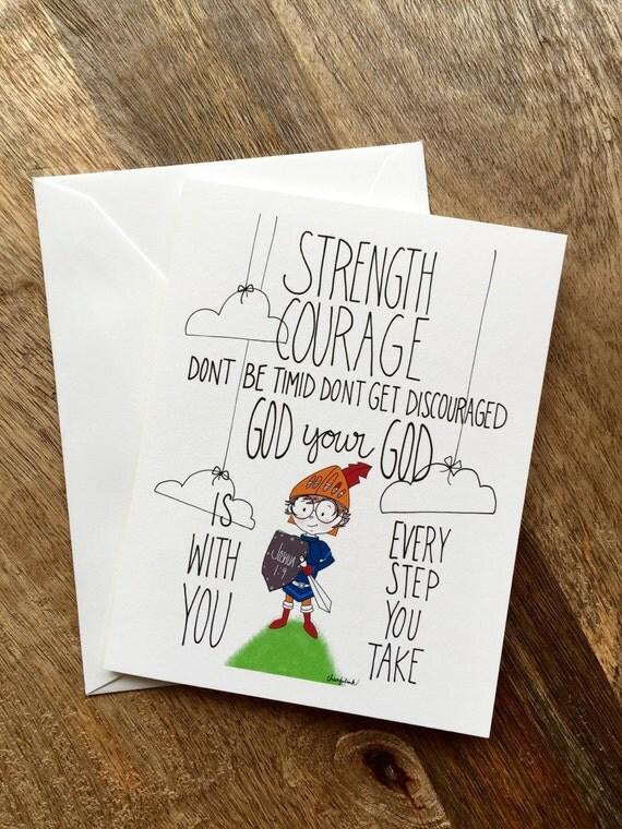 Brave Little Knight Encouragement Card