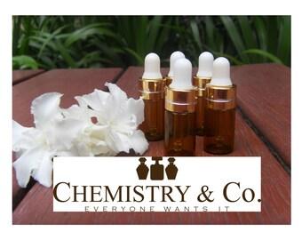 3ml AMBER Glass Dropper Bottle 3 ml Vials Miniature Mini Tester Boston Round Upscale GOLD Essential Oil, Serum, Aromatherapy, Serums, Sample