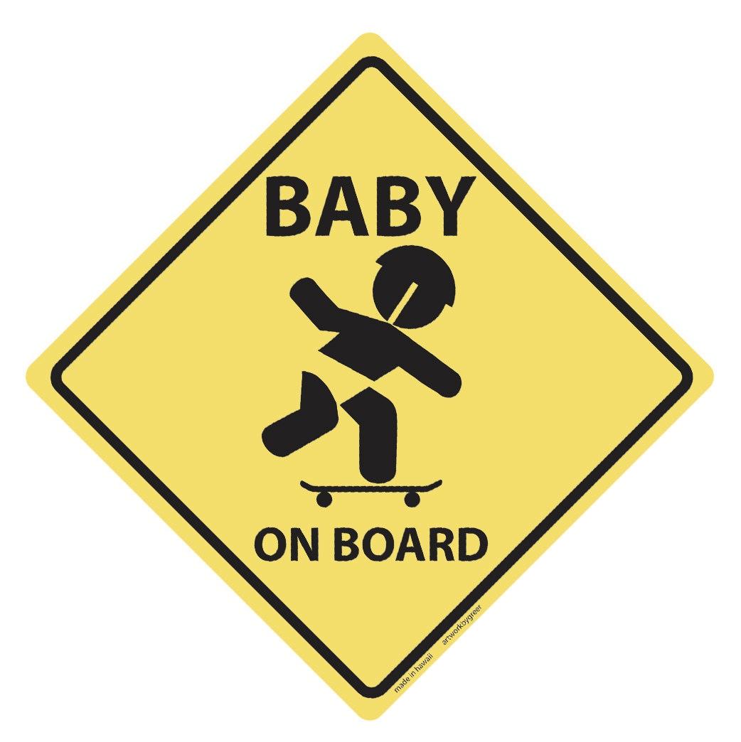 baby on board vinyl decal skateboard. Black Bedroom Furniture Sets. Home Design Ideas