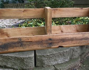 Natural Stained Wood Pallet Shelf