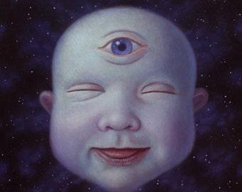 "Cosmic Baby 12""x12"" fine art print"