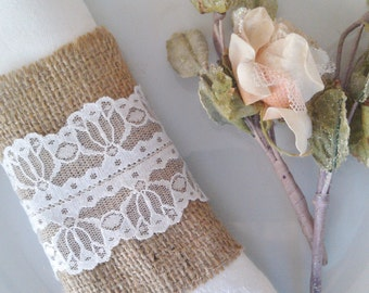 Ready to ship - Burlap Napkin Holder - Burlap Serviette Holder - Set of 50 - Burlap Napkin Ring Holder - Wedding Napkin Holder