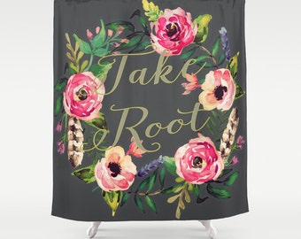 Take Root Shower Curtain