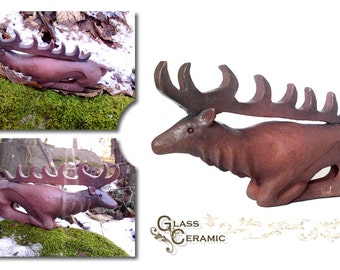 Ceramic Deer Sculpture