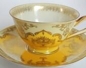 Vintage Tirschenreuth Bavaria Demi Tasse Tea Cup and Saucer Yellow