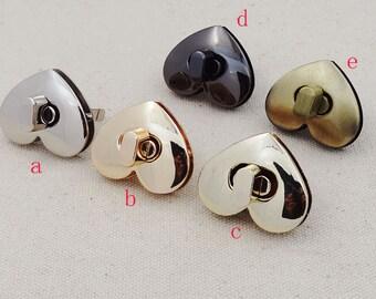 Heart purse twist-locks Purse Flip Locks.3 Pcs