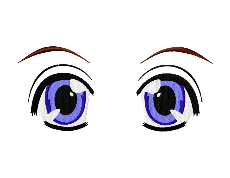 Machine Embroidery Design Anime Eyes For Dolls Or Plushies