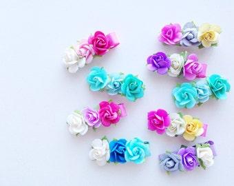 Set of 3 flower clips