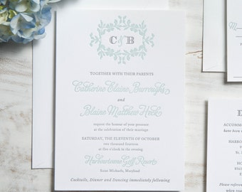 The Catherine Suite | Letterpress Wedding Invitation SAMPLE