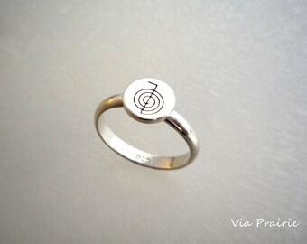 Reiki Ring, Reiki Jewelry, Riki Energy ring, Reiki Symbol Ring, Reiki Healing Ring, Reiki tool - For Reiki user - Sterling Silver Ring