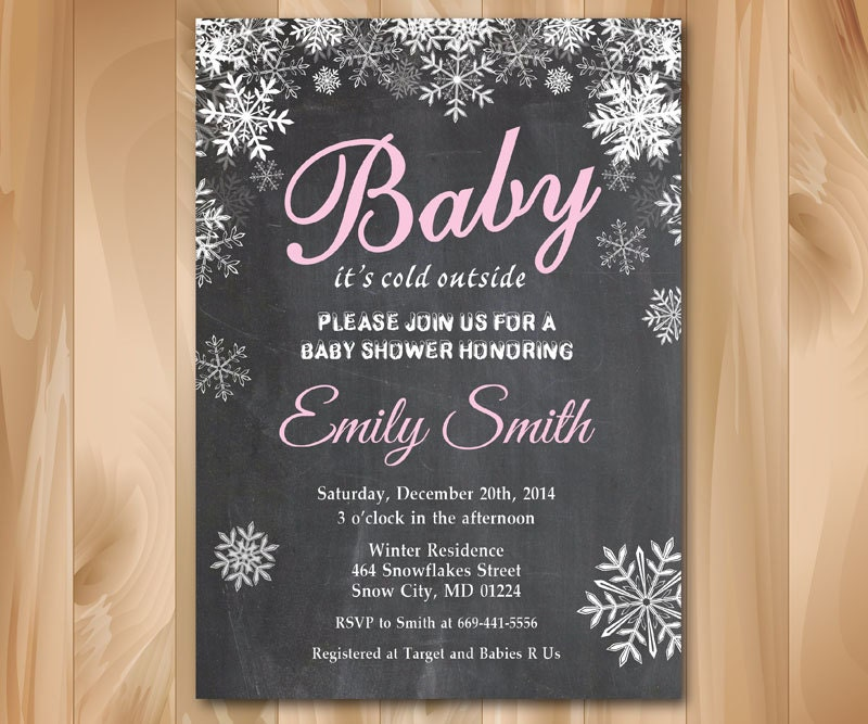 baby its cold outside baby shower invitation. winter., Baby shower invitations
