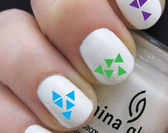 Triangle Nail Decals - Water Nail Decals