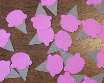 Strawberry Ice Cream Cone Confetti- Set of 50