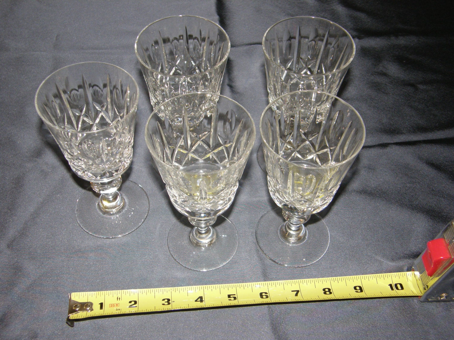 Cross And Olive Crystal Stemware Set Of Five 5 Wine