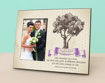 Grandparents Wedding Gift- Personalized Picture Frame - Wedding Gift Photo Frame Personalized - Grand Parents Thank You Gift - PF1003