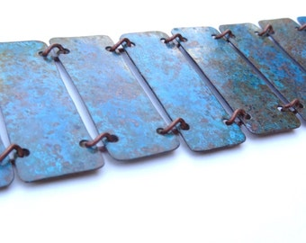 Copper Patina Link Bracelet (B5)