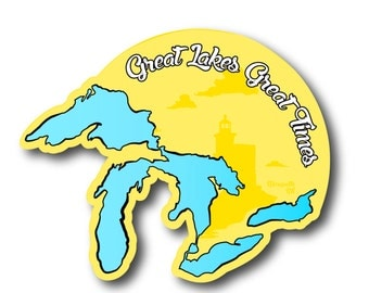 Great Lakes Great Times Marquette Mi Decal