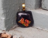 Fused Glass Pendant, Necklace, Glass Jewelry, Dichroic Glass, Ethnic Fashion, Boho