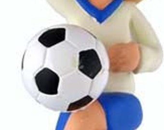 Soccer Player Ornament Girl Female Blonde Hair Christmas Tree Ornament Can Personalize Name