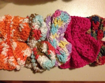 Crocheted Cotton Dish Scrubbies
