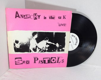 Sex Pistols vinyl record Anarchy In The UK Live Bootleg LP VG+