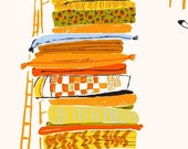 SALE Far Far Away - Princess and The Pea in Ochre - Heather Ross - Windham (39658-6)
