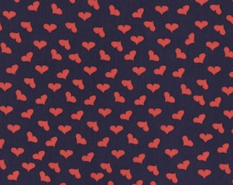 SALE French Lessons - Scattered Hearts Navy - Dear Stella (Stella-JL388-NAVY)