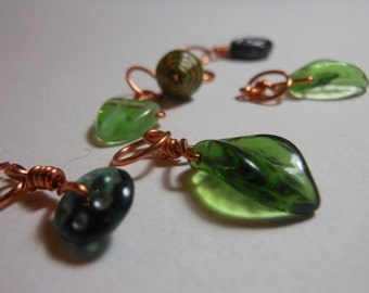 Tromping Through The Forest ~ Stitch Markers ~ Set of 6
