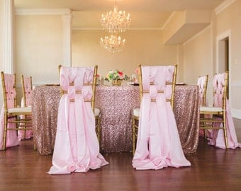 Free Shipping, Blush Pink, Rose Gold, Sequin Tablecloth, Light Pink Tablecloth, Baby Pink Sequin, Cake Table, Spring, Summer Wedding