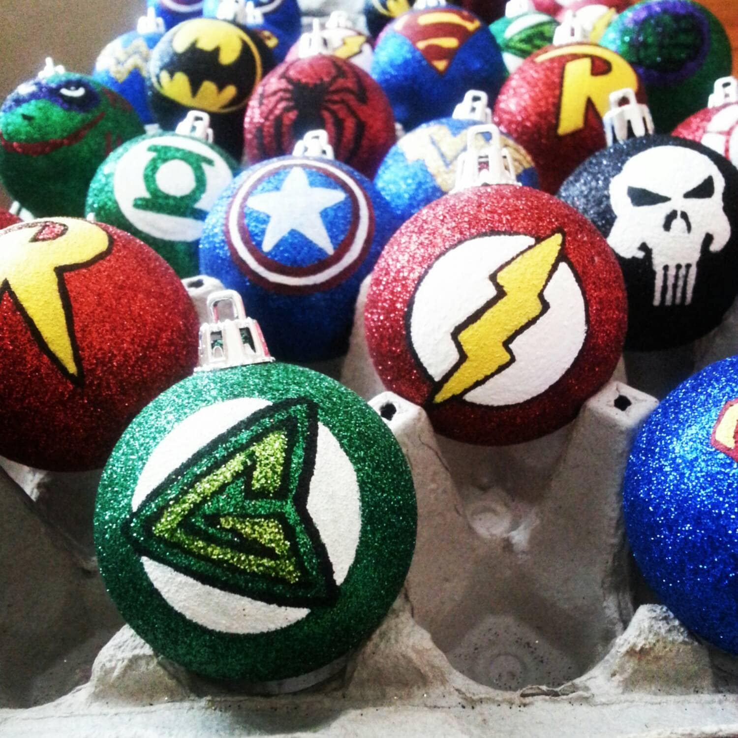 Green Arrow and Flash Christmas Ornaments
