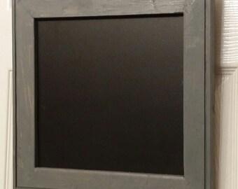 "Small Menu chalk Board, reclaimed wood chalkboard,  chalkboard sign,  13 x 12 1/2""  wedding chalkboard sign."
