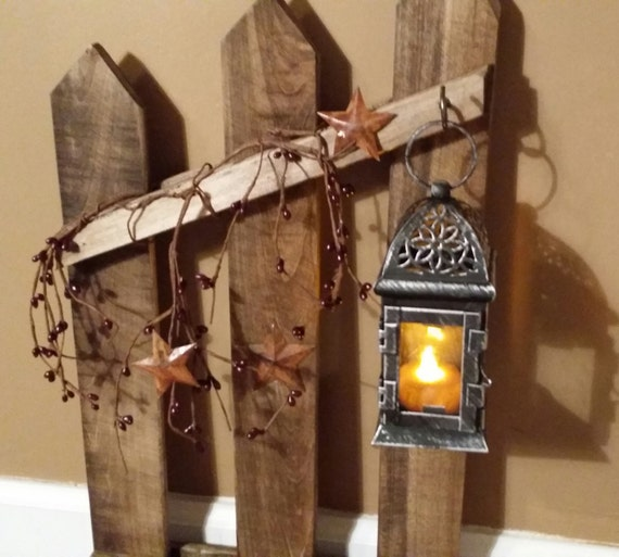 Rustic Wooden Tea Light Holder Free Shipping: Primitive Lantern Candle Holder Decor Rustic Reclaimed