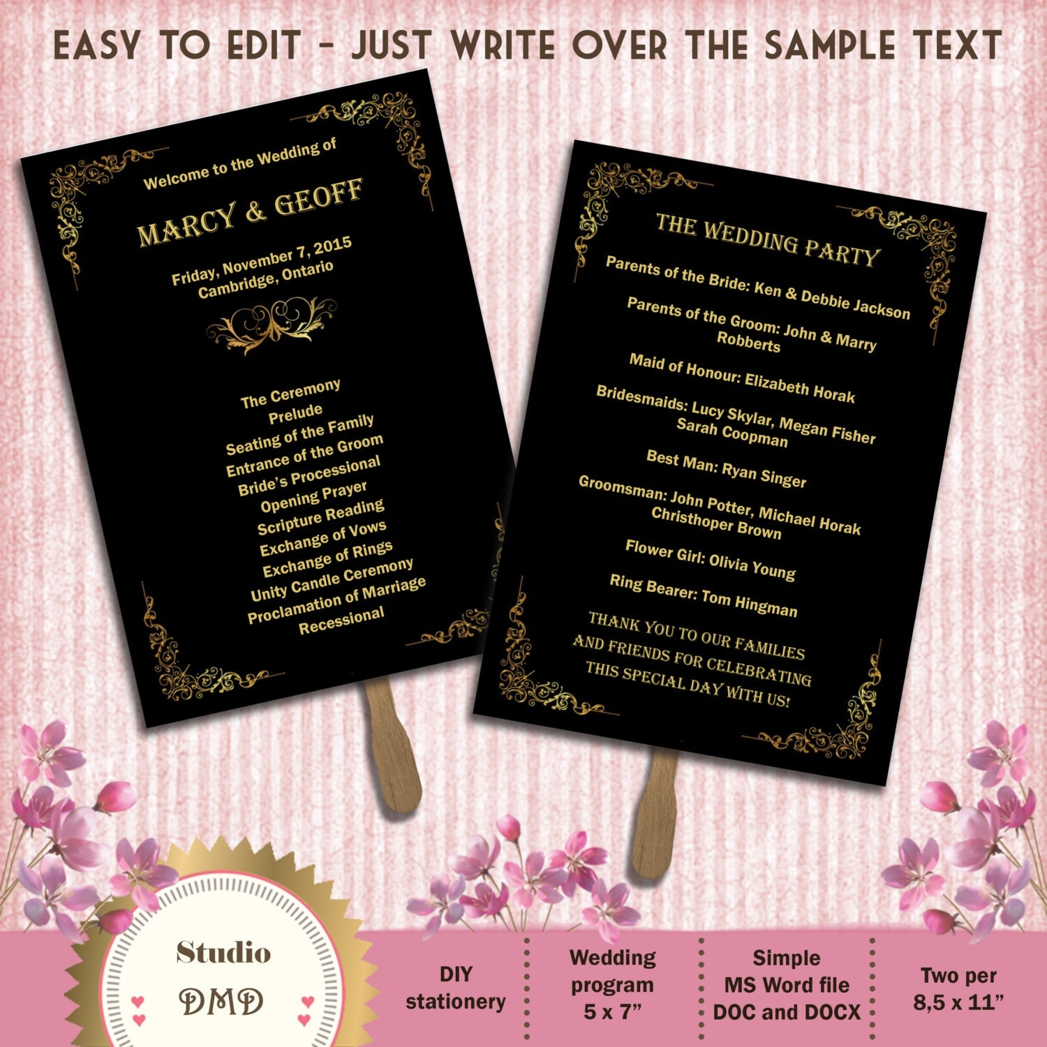 great gatsby menu template