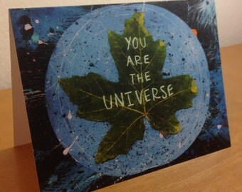 """You Are The Universe Art Blank 4.25"""" x 5.5"""" Card Free Shipping!"""