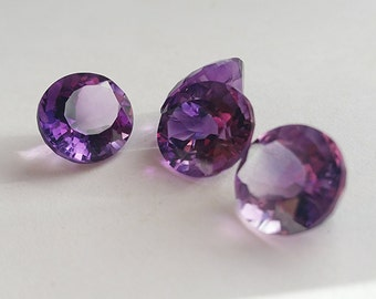 6ct Genuine Amethyst 11x13mm Faceted Oval Cut Stone Free Ship AM4C0F015X