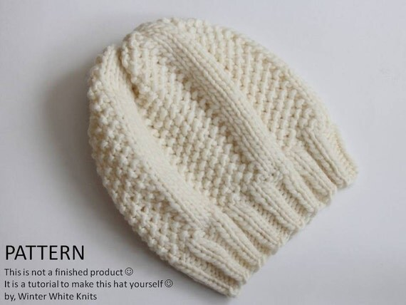 Download Knitting Pattern : Knitting pattern Knit hat pattern PDF Instant Download