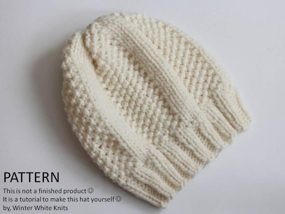 How To Follow Knitting Patterns : Knitting pattern Knit hat pattern PDF Instant Download