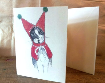 Cat in a Red Hat Holiday Card