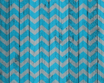 Photography Backdrop - Wood Boards - Blue or Pink Chevron - Chevron pattern on gray boards printed background - Wood photo backdrop